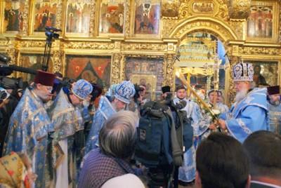 Патриарх Кирилл в Смоленском соборе