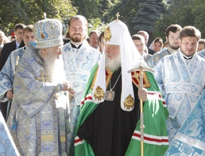Патриарх Кирилл в Новодевичьем монастыре