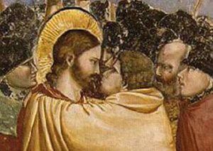 Фрагмент фрески «Поцелуй Иуды»