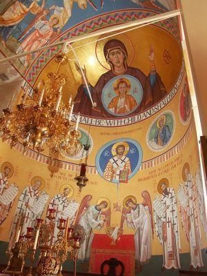 Росписи в апсиде алтаря Свято-Серафимовского собора