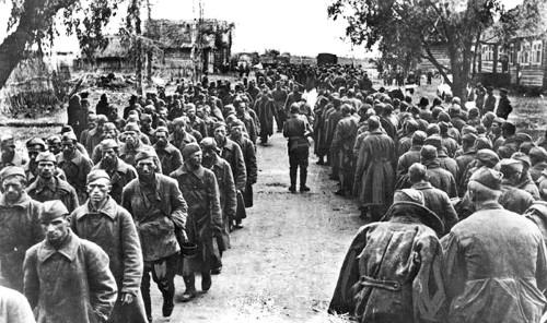 Колонны советских военнопленных