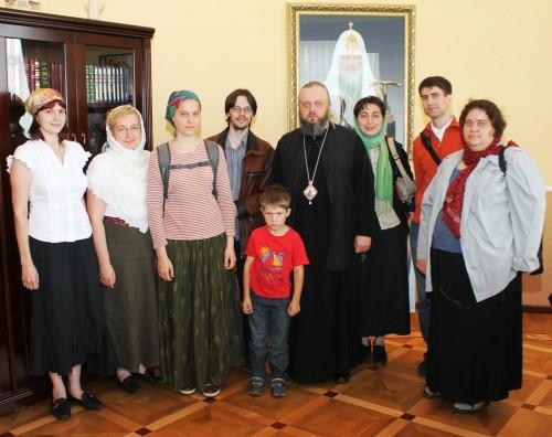 Еп. Аристарх с паломниками СФИ
