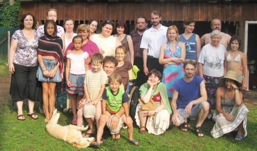 Оля со своей общиной