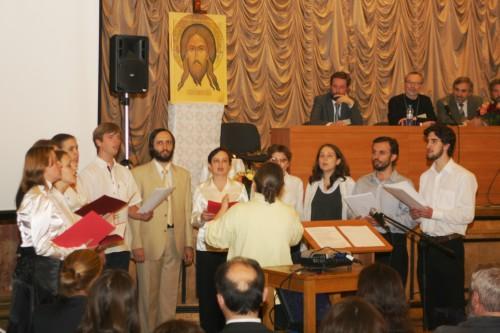 Выступление хора Преображенского братства