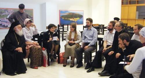 Встреча Анастасия, архиепископа Тиранского