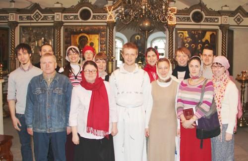 Нововоцерковленные с катехизаторами