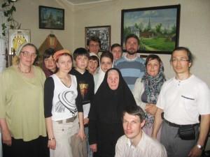 Матушка Севастиана с паломниками