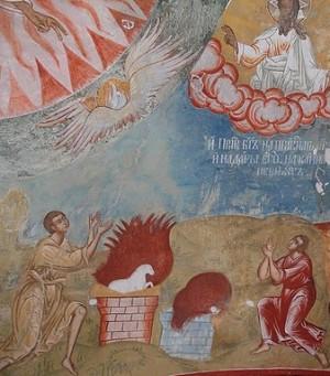 Жертвоприношение Авеля и Каина.