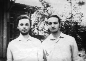 Юрий Кочетков со своим крестником Александром Копировским