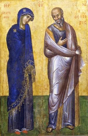 Пресвятая Богородица и Иоанн Богослов