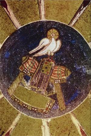 Фрагмент мозаики из монастыря Осиос Лукас