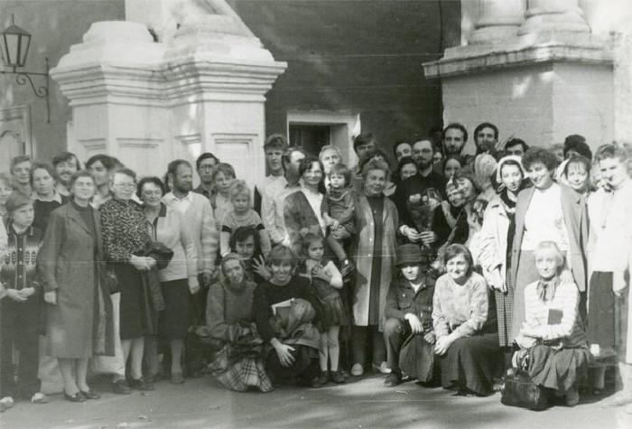 Священник Георгий Кочетков с братьями и сестрами