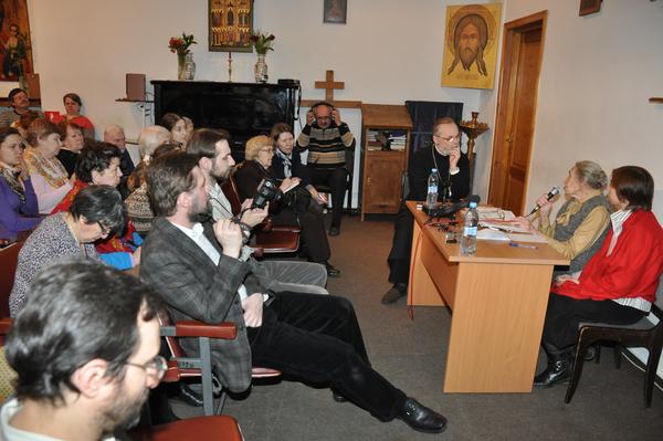 Елизавета Михайловна Шик на встрече в Свято-Филаретовском институте