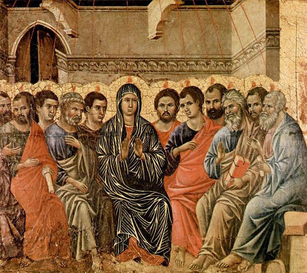 Пятидесятница. Дуччо ди Буонинсенья. 1308 год Тертуллиан Начало на с. 1