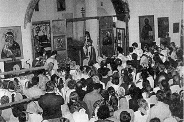 На богослужении в храме Успения в Печатниках