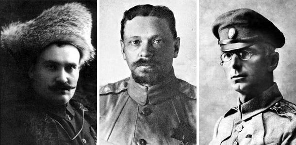 Г.М. Семёнов, В.О. Каппель, М.Г. Дроздовский