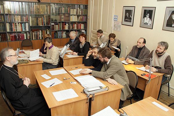 Заседание кафедры миссиологии, катехетики и гомилетики. 2009 г.