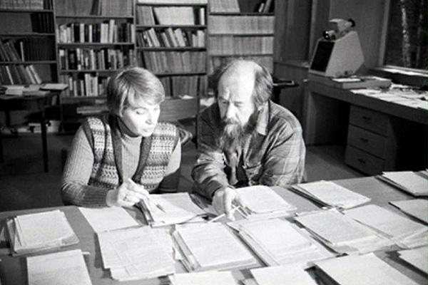 Солженицын вместе с супругой Наталией