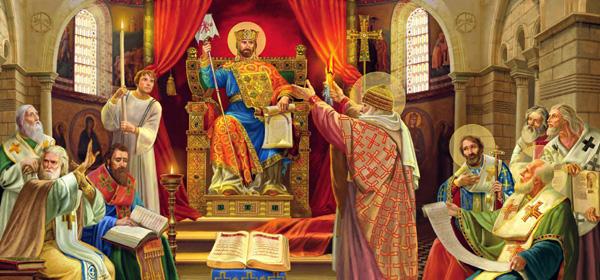Император на Вселенском соборе