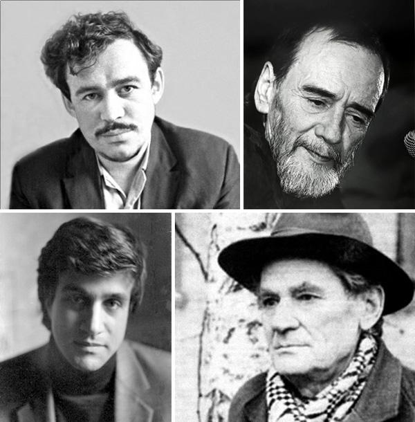 Евгений Маркин, Алексей Хвостенко, Владимир Аристов, Борис Чичибабин