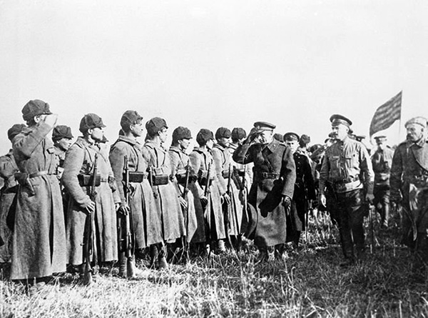Призыв в армию Колчака в Сибири