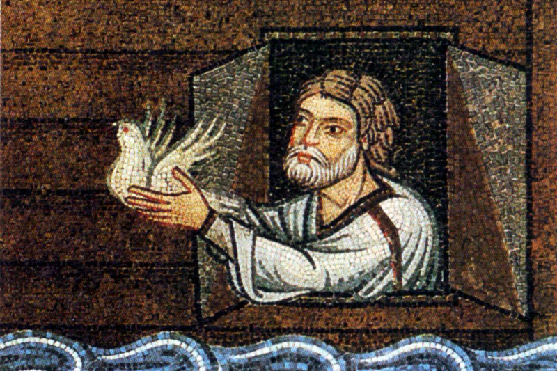 Ной, выпускающий голубя