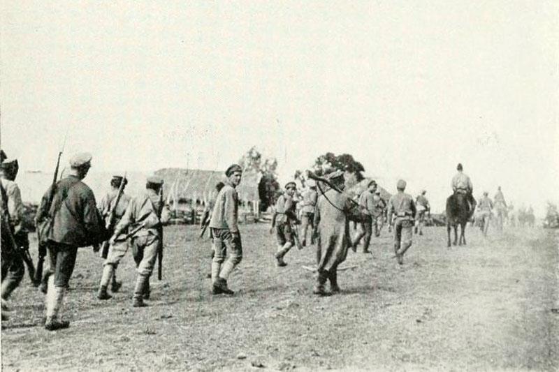 Солдаты Западной армии во время отступления. К северу от Уфы. Июнь 1919 г.