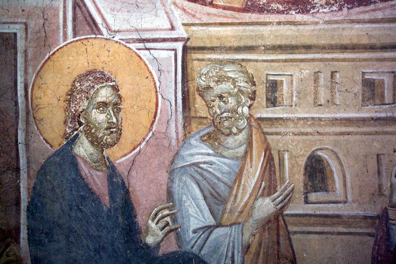 Христос и апостол Пётр