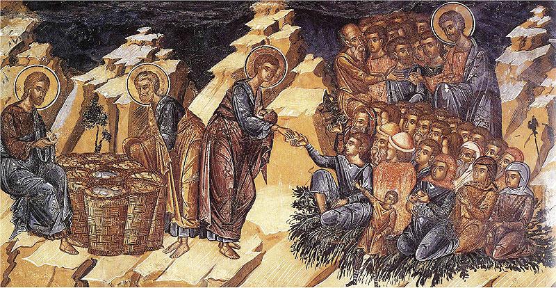 Насыщение народа пятью хлебами и двумя рыбами