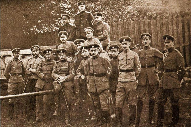 Артиллеристы 5-й Ливенской дивизии Северо-Западной армии