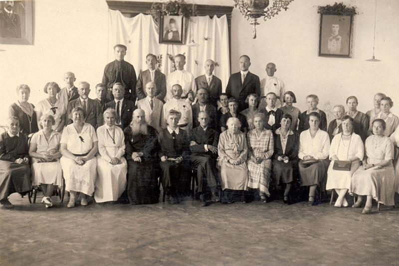 Преподаватели и сотрудники Первой русско-сербской девичьей гимназии в Великой Кикинде