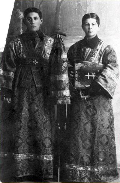 Отец Иоанн (справа) в начале церковного служения