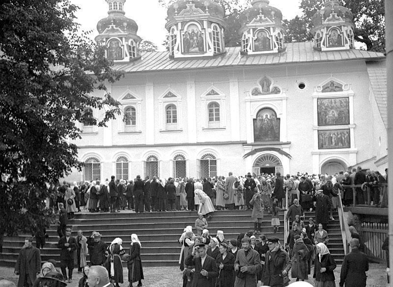 Псково-Печерский монастырь в 1940 году