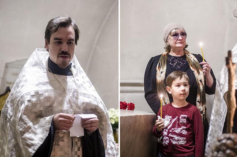 На панихиде по митрополиту Григорию (Чукову)