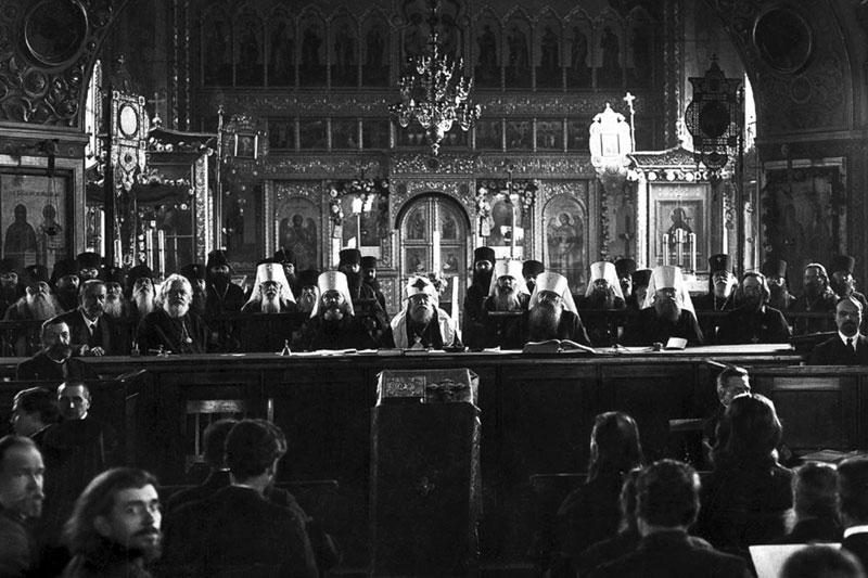 На Поместном соборе 1917-1918 гг.