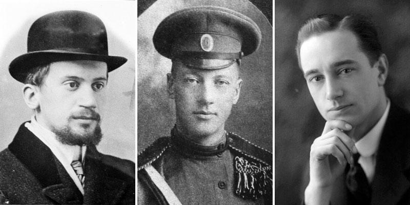 В.Н. Таганцев, Н.С. Гумилёв, П. Дюкс