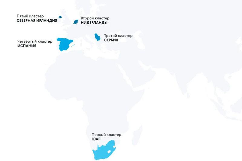 Карта стран с трудной памятью