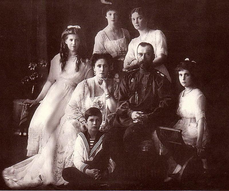 Император Николай II с семьёй. 1913 г.