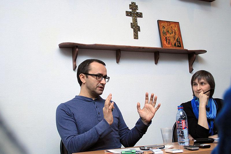 На встрече братства с режиссёром Андреем Звягинцевым. 2012 г.