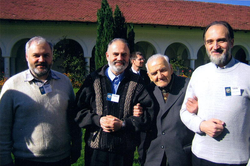 Встреча членов Преображенского братства с президентом «Воинства Господня» Моисеем Велеску (†2008)