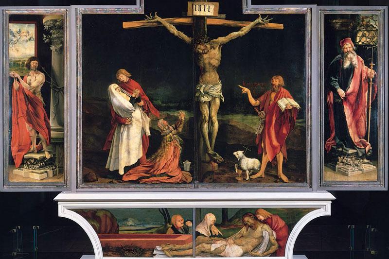 Распятие Христа. Изенгеймский алтарь. Маттиас Грюневальд