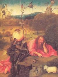 Иероним Босх. Иоанн Креститель в пустыне