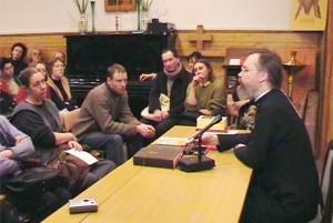 о. Георгий Кочетков ведет открытую встречу