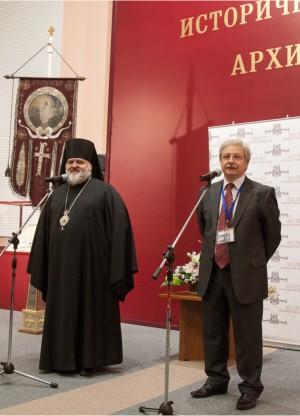 Епископ Кронштадтский Назарий и директор РГИА Александр Соколов