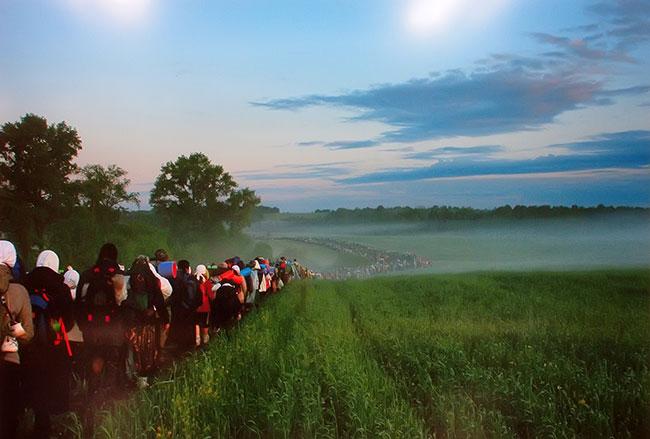 Великорецкий кресный ход, 2008 год. Фото Максима Воробьева